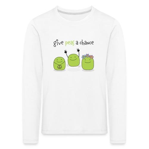 Give peas a chance! - Kinder Premium Langarmshirt