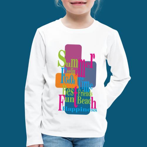 Summer Feeling.png - Kinder Premium Langarmshirt