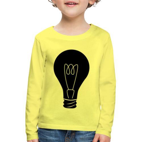 Glühbirne - Kinder Premium Langarmshirt