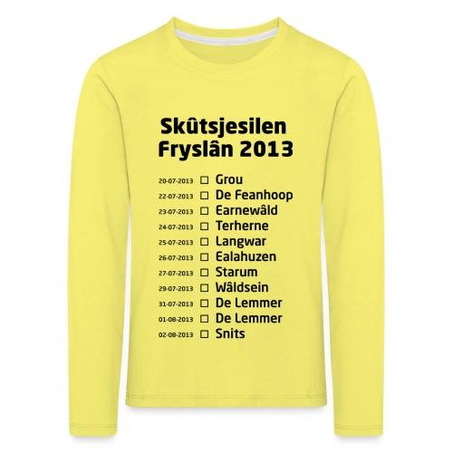 Skutsjesilen Fryslan - Kinderen Premium shirt met lange mouwen
