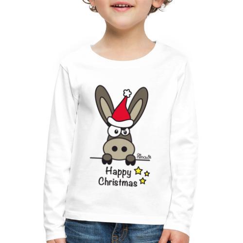 Âne, Noël Happy Christmas - T-shirt manches longues Premium Enfant