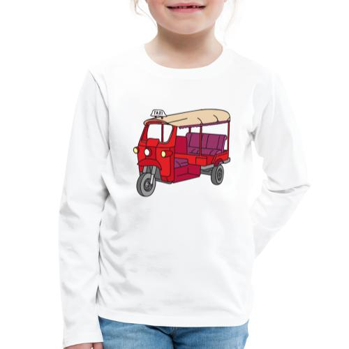 Rote Autorikscha, Tuk-tuk - Kinder Premium Langarmshirt