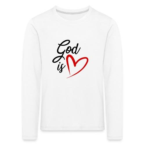 God is love 2N - Maglietta Premium a manica lunga per bambini