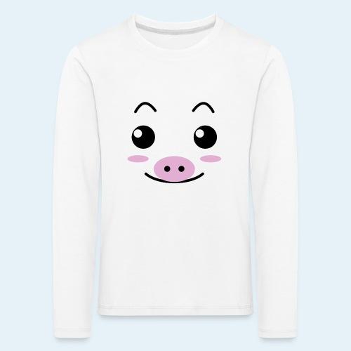 Cerdito lechón (Cachorros) - Camiseta de manga larga premium niño