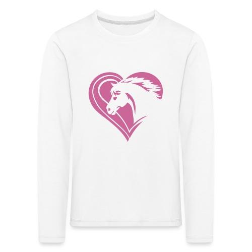 Iheart horses - Kinder Premium Langarmshirt