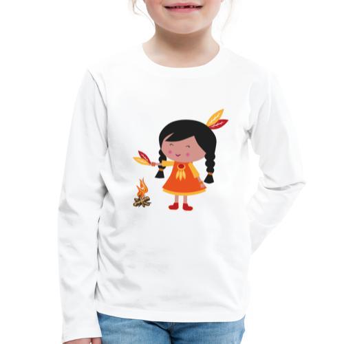 Happy Meitlis - Amerika - Kinder Premium Langarmshirt
