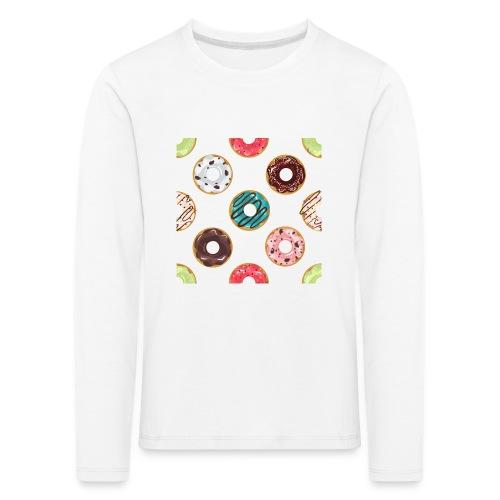 Donitsi - Lasten premium pitkähihainen t-paita