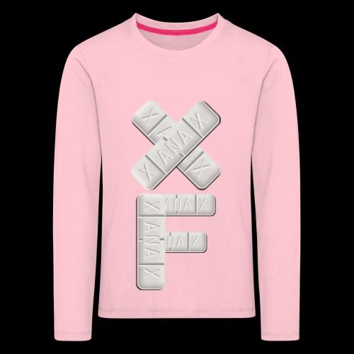 XF Xanax Logo - Kinder Premium Langarmshirt