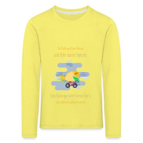 Der Fahrrad-Fisch - Kinder Premium Langarmshirt