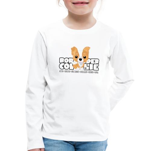 DGBigHeads - BorderCollie Red - Kids' Premium Longsleeve Shirt