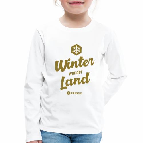 Winter Wonder Land - Lasten premium pitkähihainen t-paita