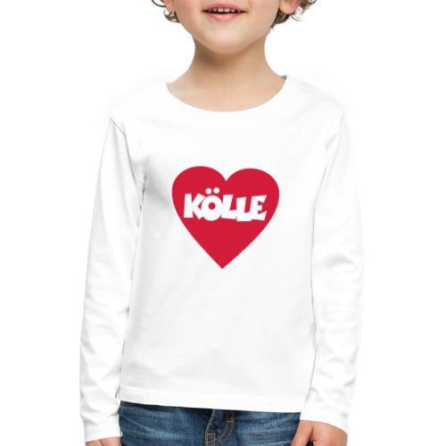 I Love Kölle - Ein Herz für Köln - Kinder Premium Langarmshirt