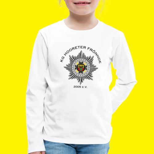 Schwarze Schrift - Kinder Premium Langarmshirt
