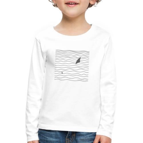 Windsurfer & Shark (black) - Kinder Premium Langarmshirt