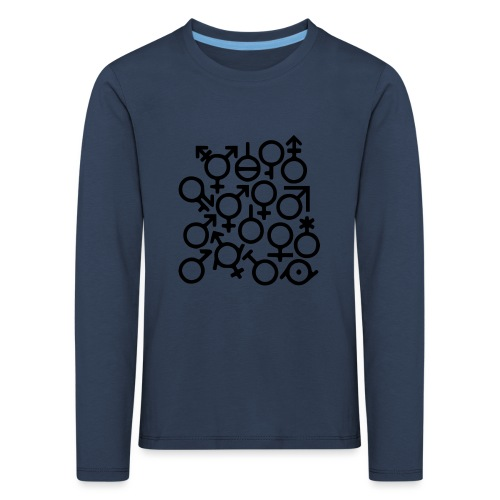 Multi Gender B/W - Kinderen Premium shirt met lange mouwen