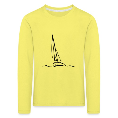 Segelboot - Kinder Premium Langarmshirt