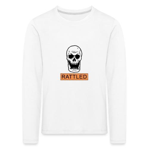 Rattled Spooky Halloween Skeleton Meme - Kids' Premium Longsleeve Shirt