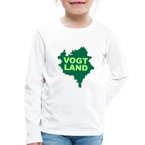 Vogtland Landkarte Landkreis Sachsen Touristik - Kinder Premium Langarmshirt