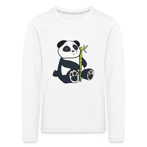 Oso Panda con Bamboo - Camiseta de manga larga premium niño