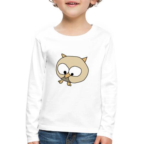Uggla - Långärmad premium-T-shirt barn