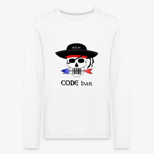 Code Bar couleur - T-shirt manches longues Premium Enfant