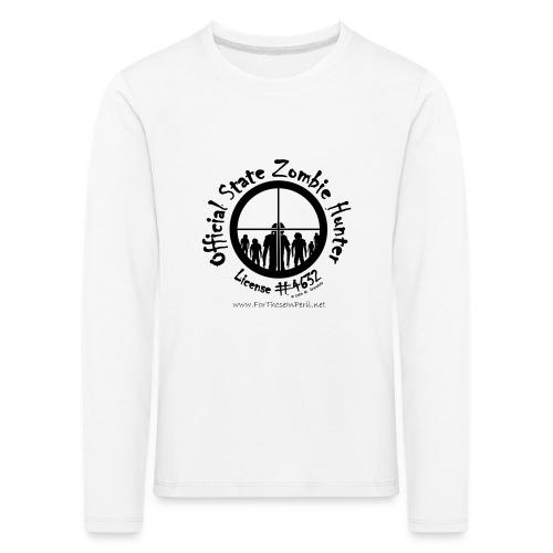 Official State Zombie Hunter (B) - Kids' Premium Longsleeve Shirt