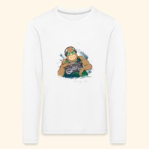 Gorilla Jungle Hiphop - Camiseta de manga larga premium niño