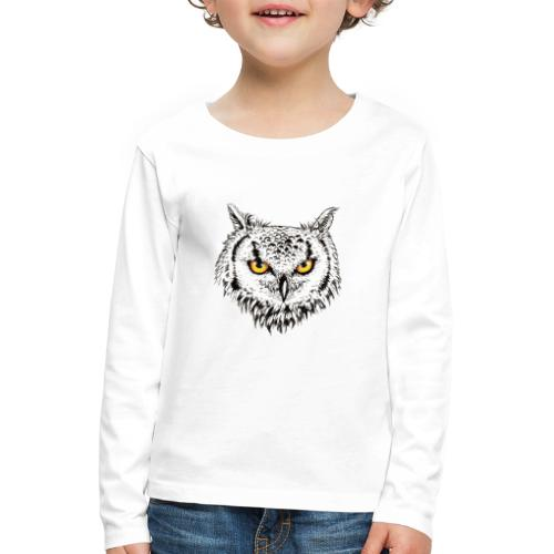 Nachteule - Kinder Premium Langarmshirt
