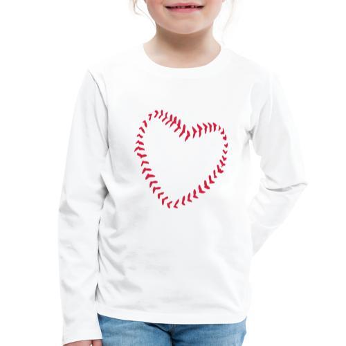 2581172 1029128891 Baseball Heart Of Seams - Kids' Premium Longsleeve Shirt