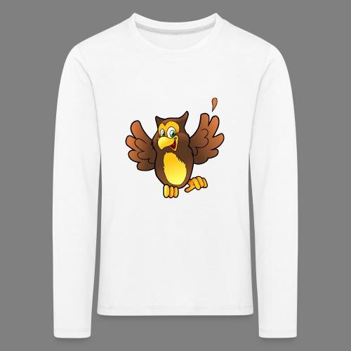 Cartoon Eule - Kinder Premium Langarmshirt