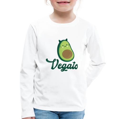 Vegato - Camiseta de manga larga premium niño