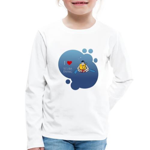 J'aime la plongée sous-marine - plongeur - T-shirt manches longues Premium Enfant
