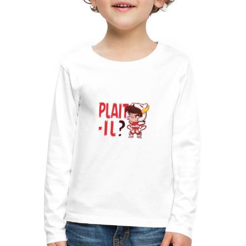 Seiya - Plaît-il ? (texte rouge) - T-shirt manches longues Premium Enfant
