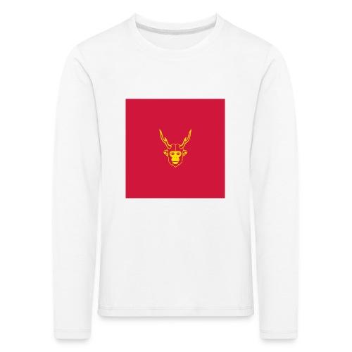 scimmiacervo sfondo rosso - Maglietta Premium a manica lunga per bambini