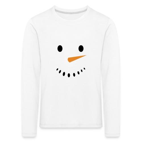 Bonhomme de neige Noël Hiver - T-shirt manches longues Premium Enfant