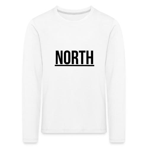 North T-Shirt VIT Man - Långärmad premium-T-shirt barn