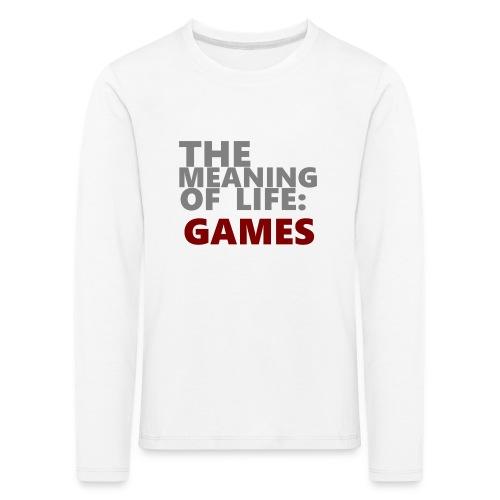 T-Shirt The Meaning of Life - Kinderen Premium shirt met lange mouwen