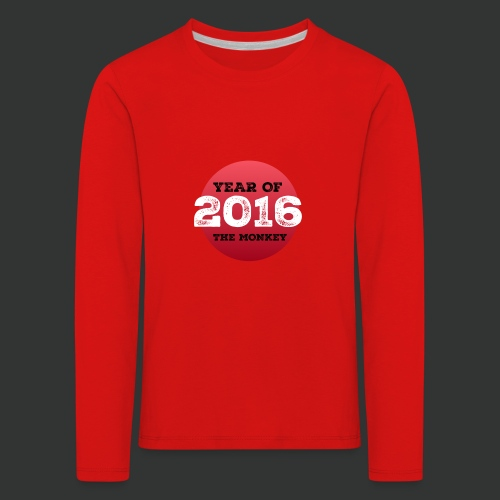 2016 year of the monkey - Kids' Premium Longsleeve Shirt