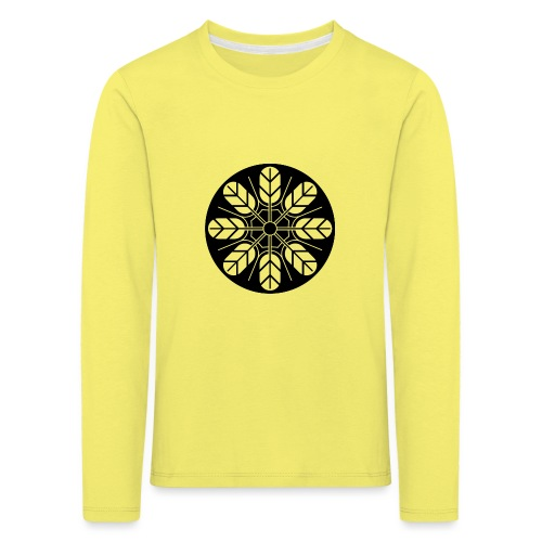 Inoue clan kamon in black - Kids' Premium Longsleeve Shirt