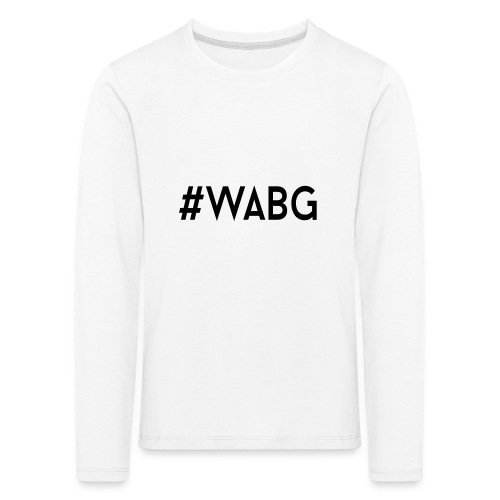 WABG ZWART png - Kinderen Premium shirt met lange mouwen