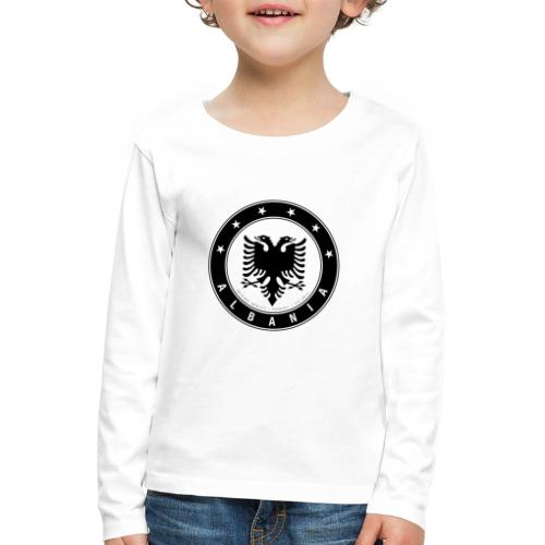 Patrioti Albania Black - Kinder Premium Langarmshirt
