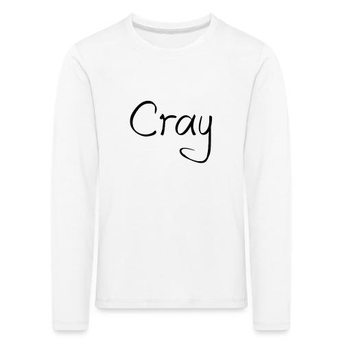 Cray Black Schrifft - Kinder Premium Langarmshirt
