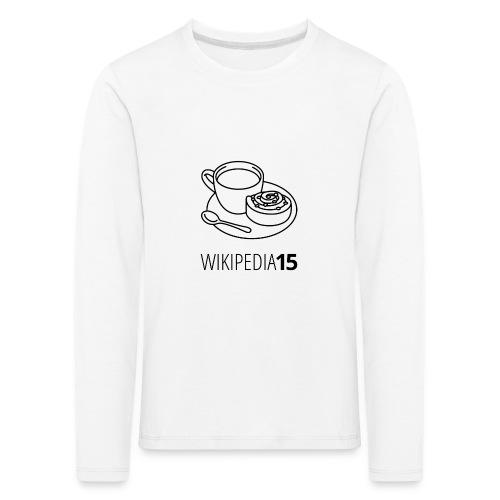 Fika, figursydd, vit - Långärmad premium-T-shirt barn