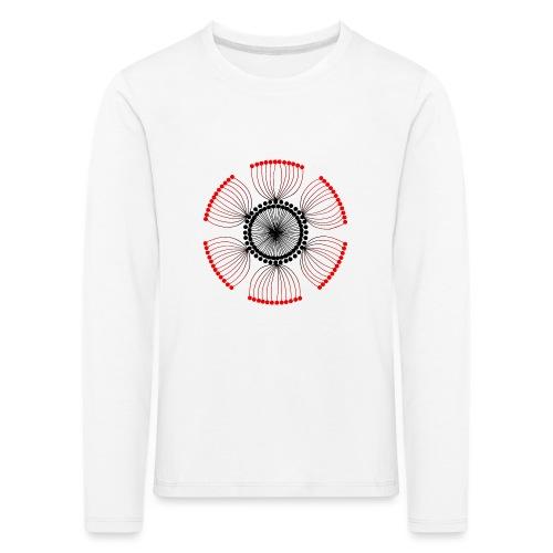 Red Poppy Seeds Mandala - Kids' Premium Longsleeve Shirt