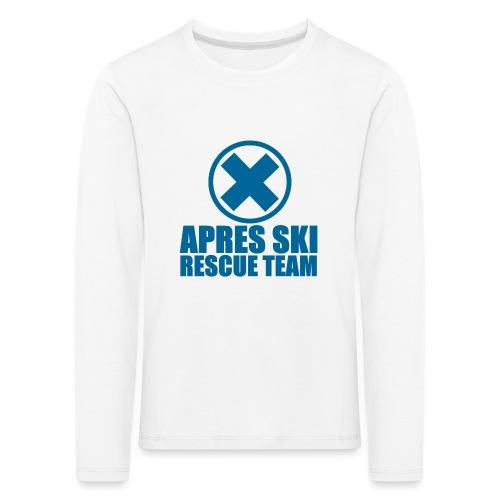 apres-ski rescue team - Kinderen Premium shirt met lange mouwen