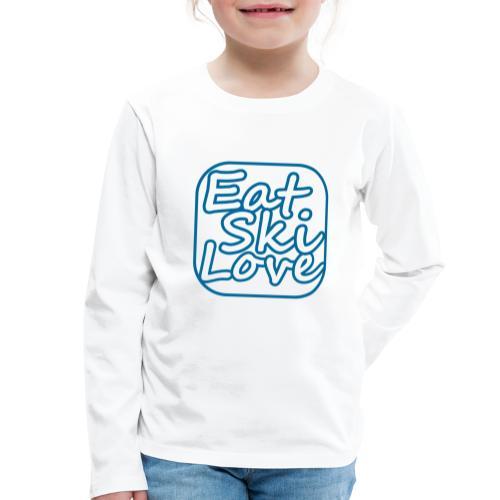 eat ski love - Kinderen Premium shirt met lange mouwen