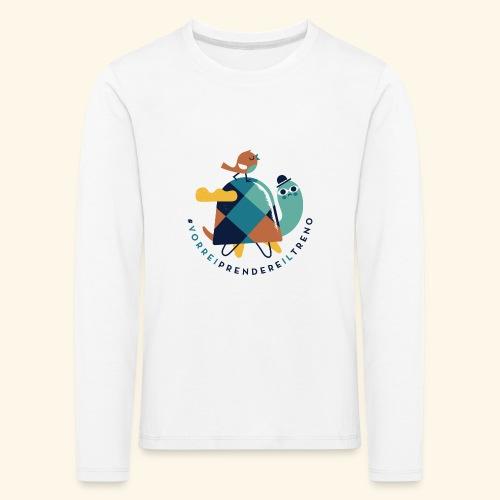 Tartaruga e uccellino - Maglietta Premium a manica lunga per bambini