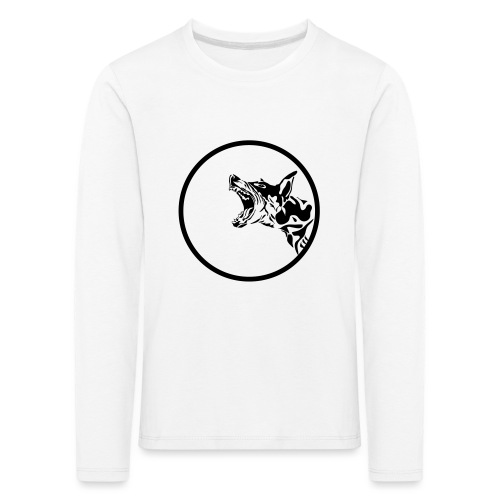 dog in a circle frame - T-shirt manches longues Premium Enfant