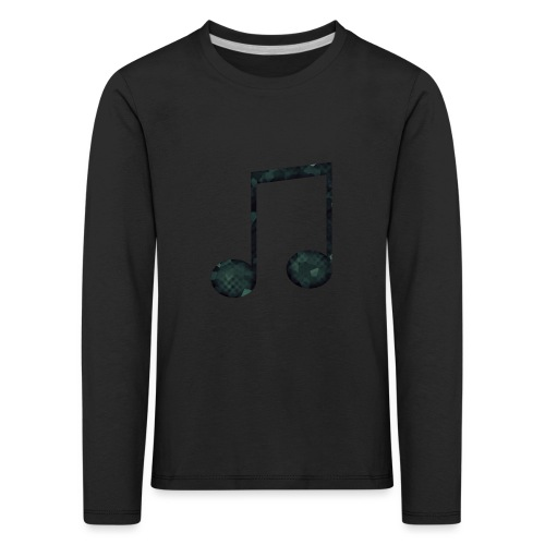 Low Poly Geometric Music Note - Kids' Premium Longsleeve Shirt