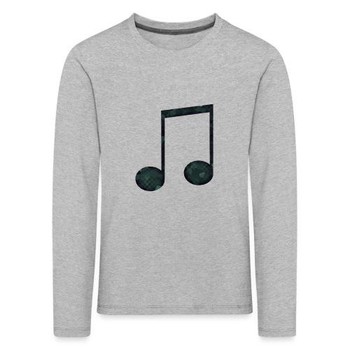 Low Poly Geometric Music Note - Kids' Premium Longsleeve Shirt